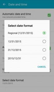 "Select ""Regional"" date format."
